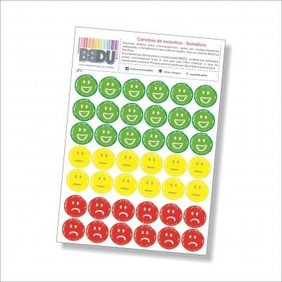Adesivos Carinhas de Incentivo: Semáforo