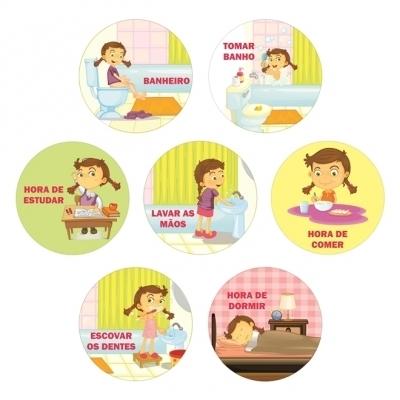 Adesivos Sinalizadores das Atividades - Menina
