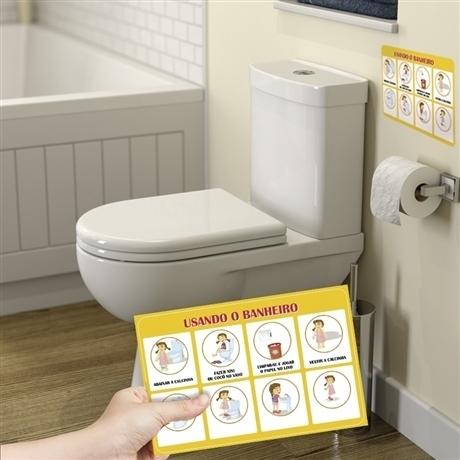 Adesivos Usando o Banheiro (Masculino)